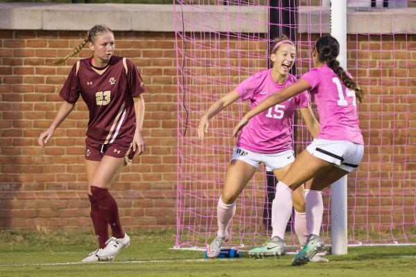 Women's soccer drops Boston College