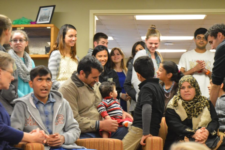 MSA and Catholic Community host dinner with refugees