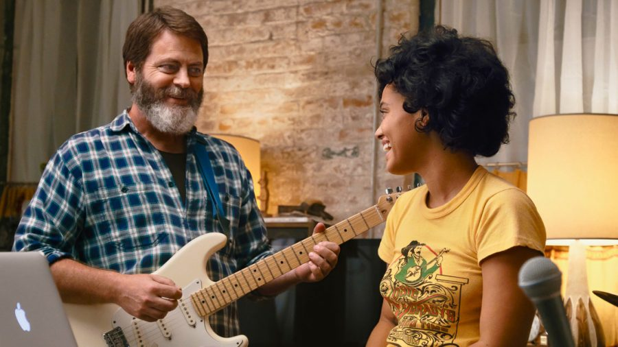 Nick+Offerman+and+Kiersey+Clemons+appear+in+Hearts+Beat+Loud+by+Brett+Haley%2C+an+official+selection+of+the+Premieres+program+at+the+2018+Sundance+Film+Festival.+Courtesy+of+Sundance+Institute+%7C+photo+by+Jon+Pack.+All+photos+are+copyrighted+and+may+be+used+by+press+only+for+the+purpose+of+news+or+editorial+coverage+of+Sundance+Institute+programs.+Photos+must+be+accompanied+by+a+credit+to+the+photographer+and%2For+%27Courtesy+of+Sundance+Institute.%27+Unauthorized+use%2C+alteration%2C+reproduction+or+sale+of+logos+and%2For+photos+is+strictly+prohibited.