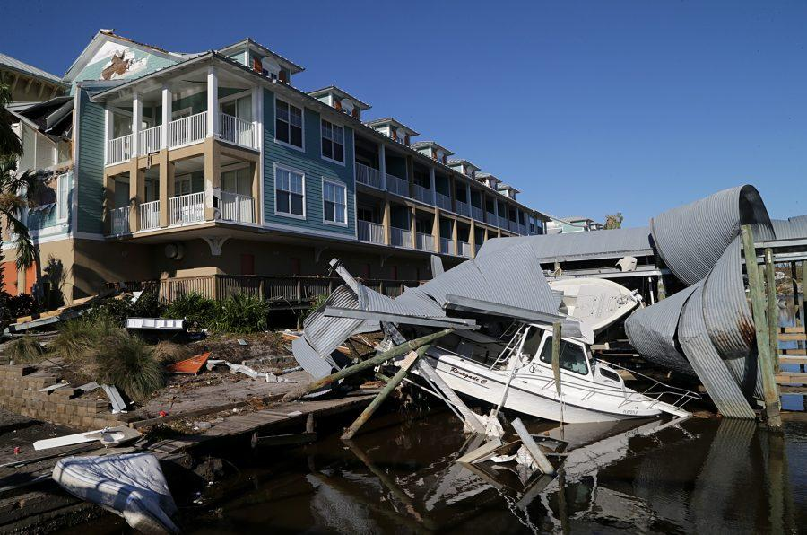 The rubble in Mexico Beach, two days after a Category 4 Hurricane Michael devastated the small coastal town just outside Panama City, Fla., on Friday, Oct. 12, 2018. (Pedro Portal/Miami Herald/TNS)