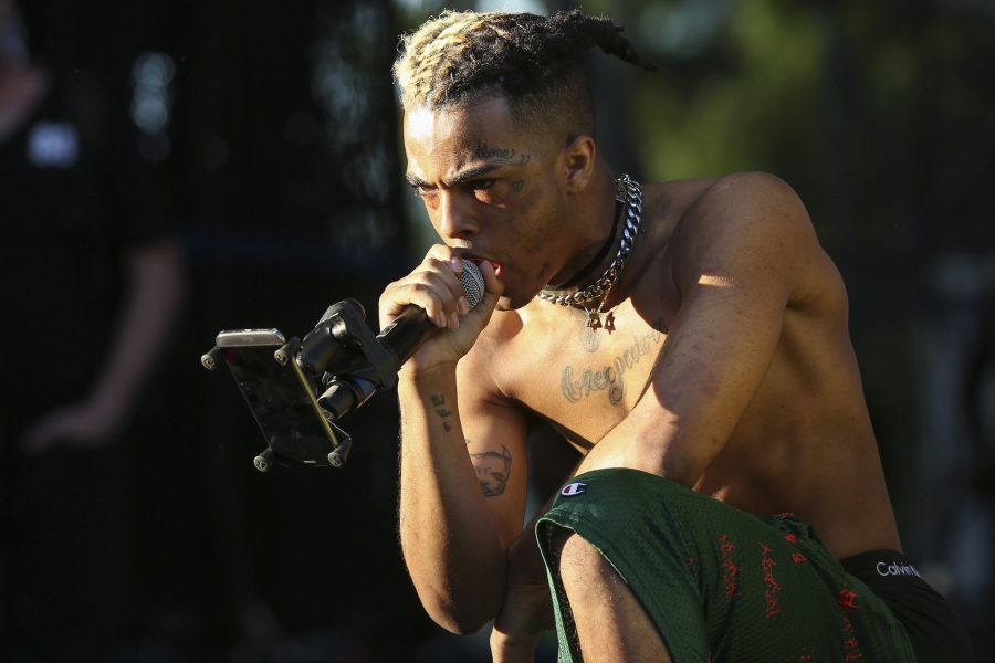 XXXTentacion performs during the second day of the Rolling Loud Festival in downtown Miami on May 6, 2017. (Matias J. Ocner/Miami Herald/TNS)