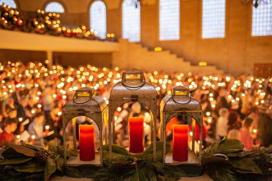 The service featured a candle lighting ceremony that united the crowd under the theme of Lovefeast. The event first began in December 1965 and has become a tradition since.