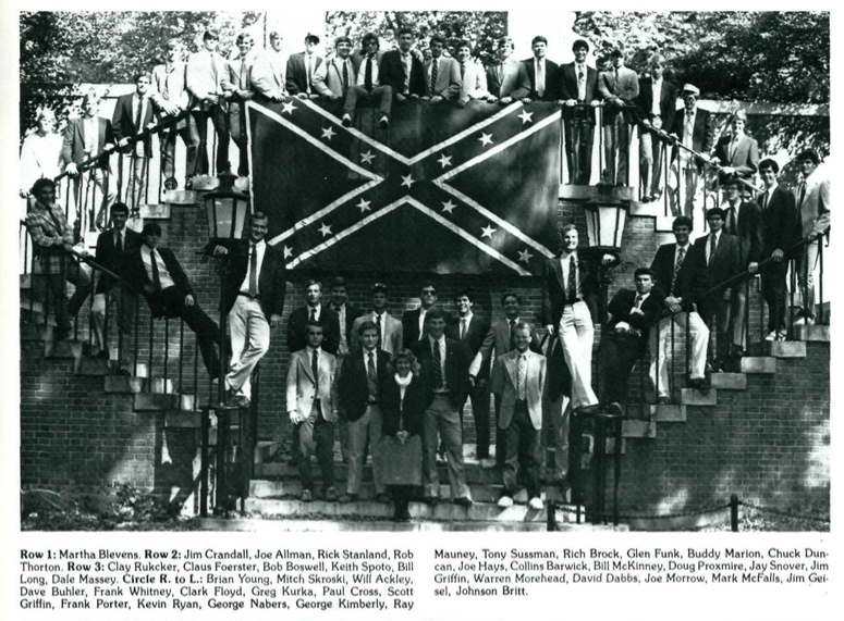 Deans+of+Admissions+Pictured+Before+Confederate+Flag+In+1980s
