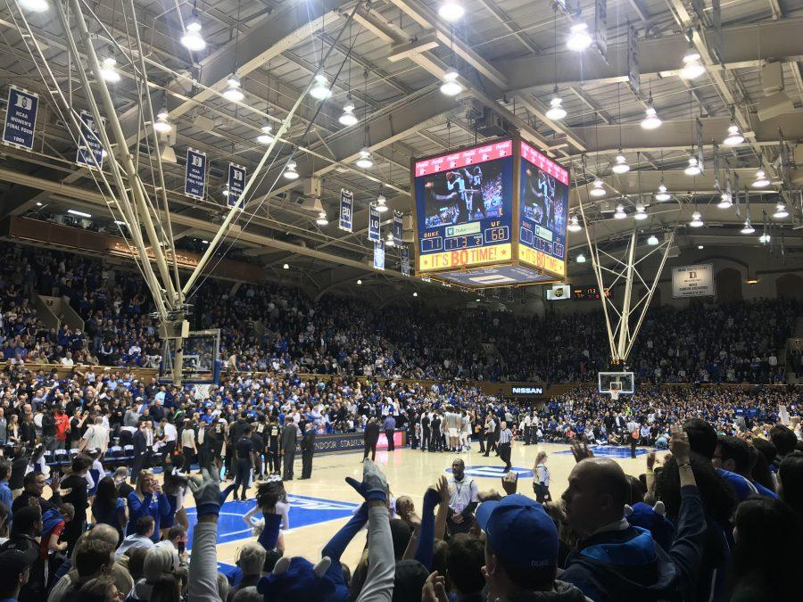 Basketball+Almost+Grabs+The+Win+At+Cameron+Indoor