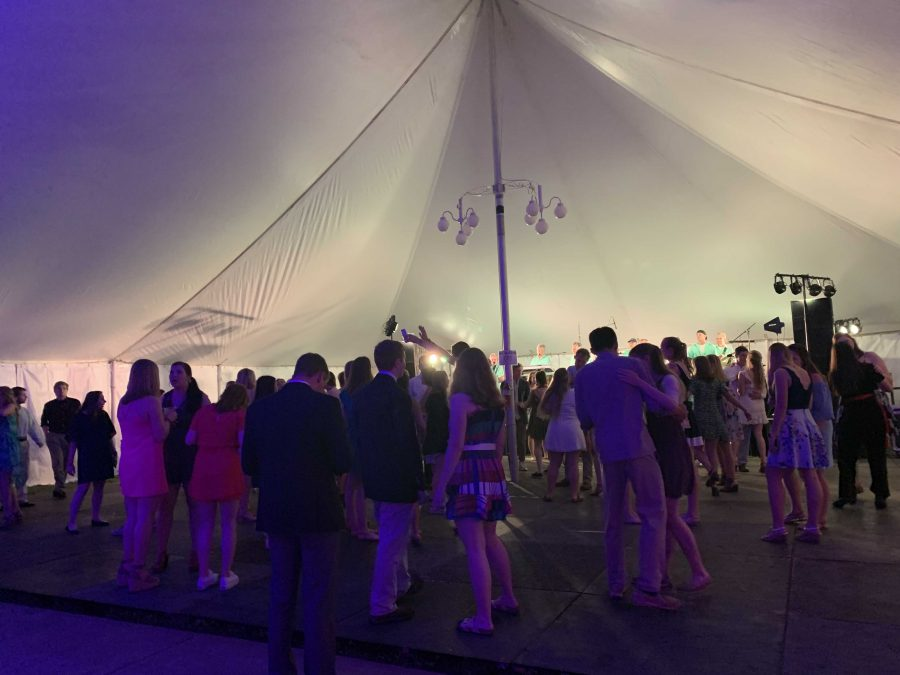 As the name of the event suggests, the main attraction of the night is the live band and large dance floor. From 10 p.m. until late in the night, students gathered under the tent to dance with friends and enjoy a much-needed change of pace.