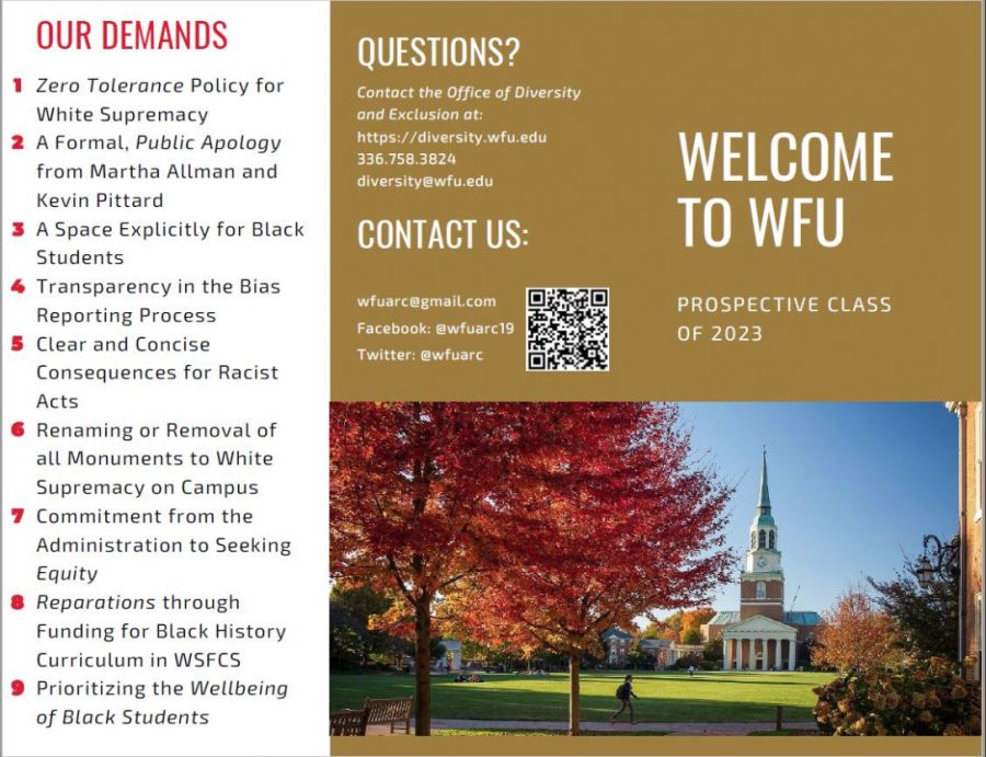 Anti-Racism Coalition Distributes Pamphlet To Admitted Students