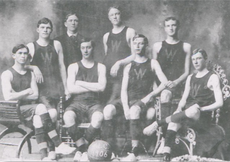 1906: Wake Forest plays its first basketball game, defeating Trinity College (now Duke).