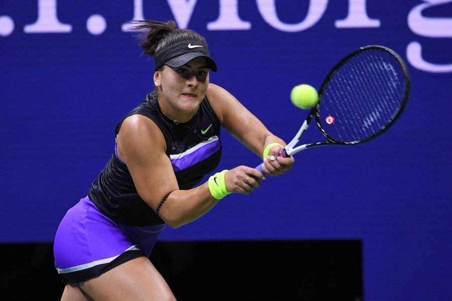 Canada's Bianca Andreescu posted a 6-3, 7-5 win in the finals of the U.S. Open against Serena Williams of the United States at Arthur Ashe Stadium at the USTA Billie Jean King National Tennis Center in New York on Saturday, Sept. 7, 2019. (Imago/Zuma Press/TNS)