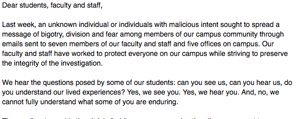 Wake Forest Responds To Threatening Emails