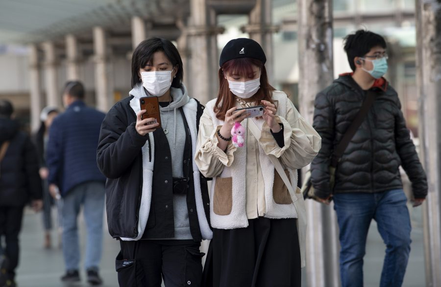Fear of the 2019 Novel Coronavirus from Wuhan, China, is evident on the streets of Hong Kong on Wednesday, Jan. 29, 2020. (Jayne Russell/Zuma Press/TNS)