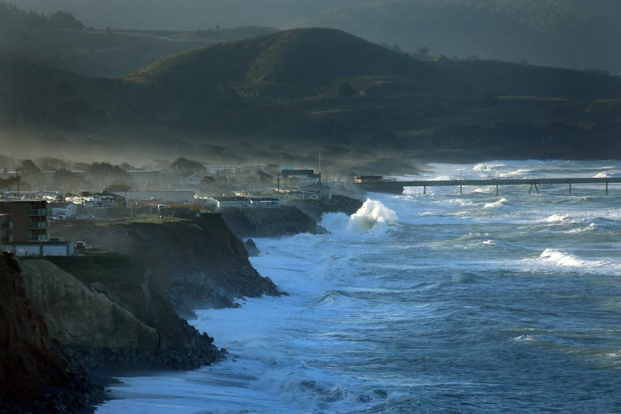 The town of Pacifica, just south of San Francisco, is ground zero for the issue of coastal erosion. On Jan. 20-21, the combination of ocean surge and a king tide caused high waves. Some homes and apartment building have already been lost to the forces of nature. (Carolyn Cole/Los Angeles Times/TNS)