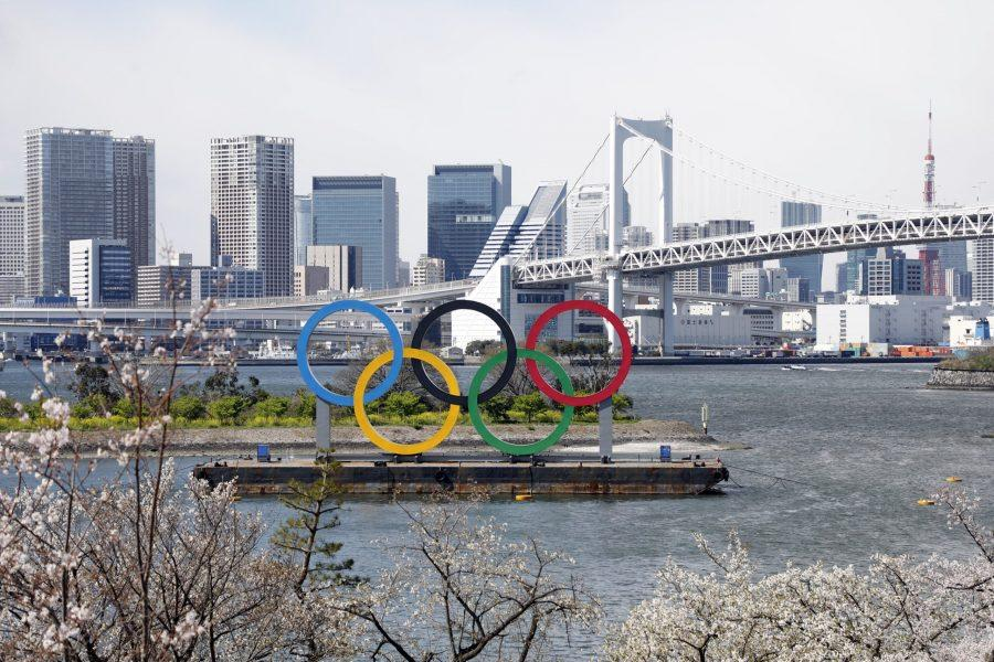 A+view+of+the+Olympic+rings+monument+Tuesday+at+Rainbow+Bridge%2C+Odaiba%2C+Tokyo.+The+IOC+announced+this+week+that+the+2020+Tokyo+Games+have+been+postponed+due+to+the+coronavirus+pandemic.+%5BYukihito+Taguchi%2FUSA+TODAY+Sports%5D