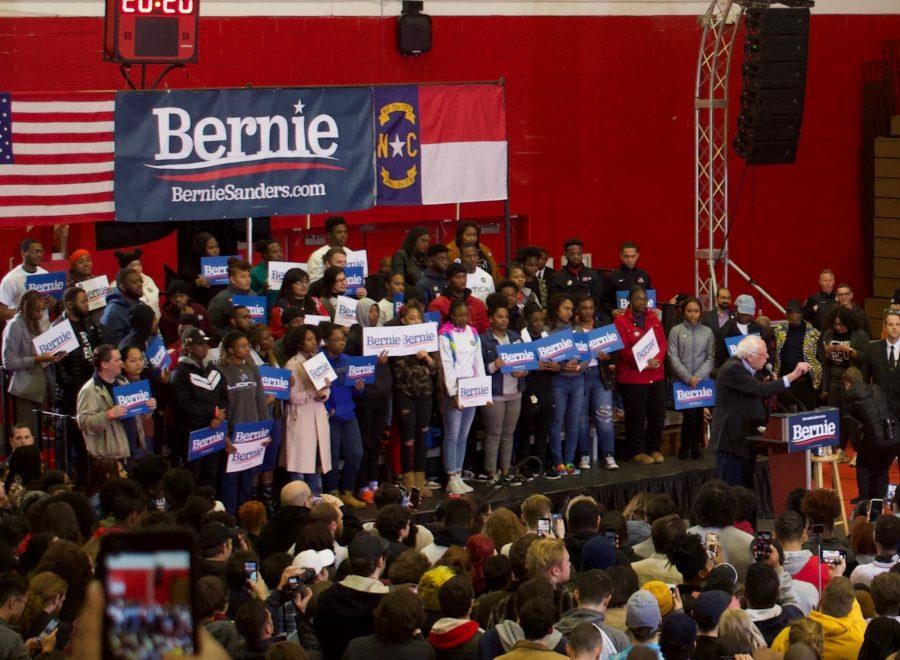 Sanders Holds Rally In Winston-Salem