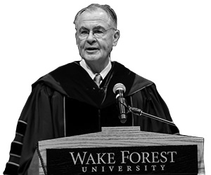 Wake Forest holds its annual Founders Day Convocation in Wait Chapel on Thursday, February 20, 2020.  Wake Forest President Nathan O. Hatch delivers a forceful apology for the university ownership of enslaved people.