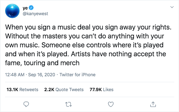 Kanye advocates for songwriters