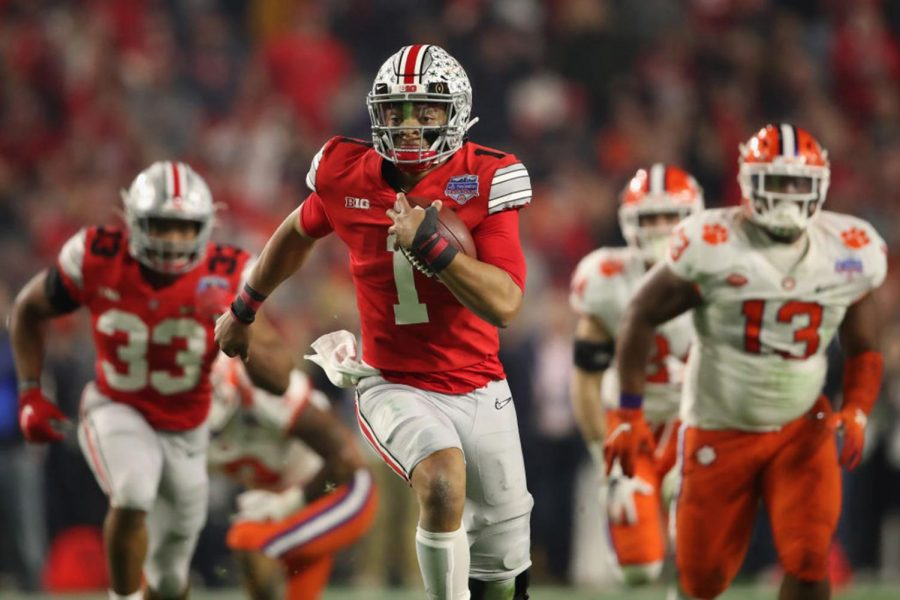 Ohio State quarterback Justin Fields will be on the hunt for the Heisman trophy during his second season as the starter for the Buckeyes (Christian Petersen/Getty Images/TNS)