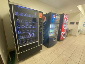 A poorly stocked vending machine located in Magnolia Residence Hall (Ryan King/Old Gold & Black)