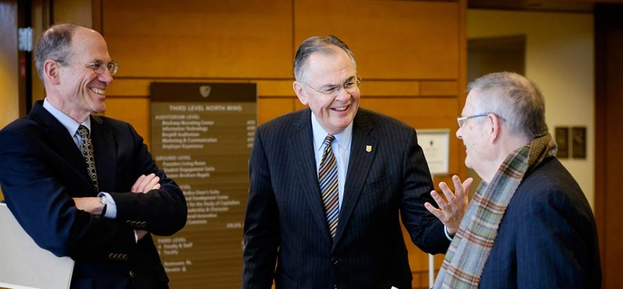 The search committee, which includes a wide range of voices in the Wake Forest community, hopes to find a worthy successor to President Hatch (Photo courtesy of Wake Forest University)