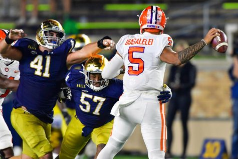 The Clemson Tigers failed to pull out a win in South Bend (Matt Cashore/Pool/Getty Images/TNS)
