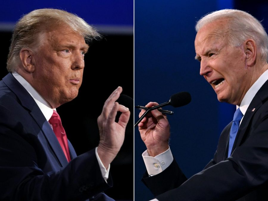 The presidential race between President Donald Trump and former Vice President Joe Biden continues to be contested as key battleground states like Pennsylvania, Arizona and Nevada have thousands of uncounted ballots remaining (Brendan Smialowski and Jim Watson/AFP via Getty Images/TNS)