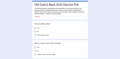 Results of the first-ever Old Gold & Black election poll