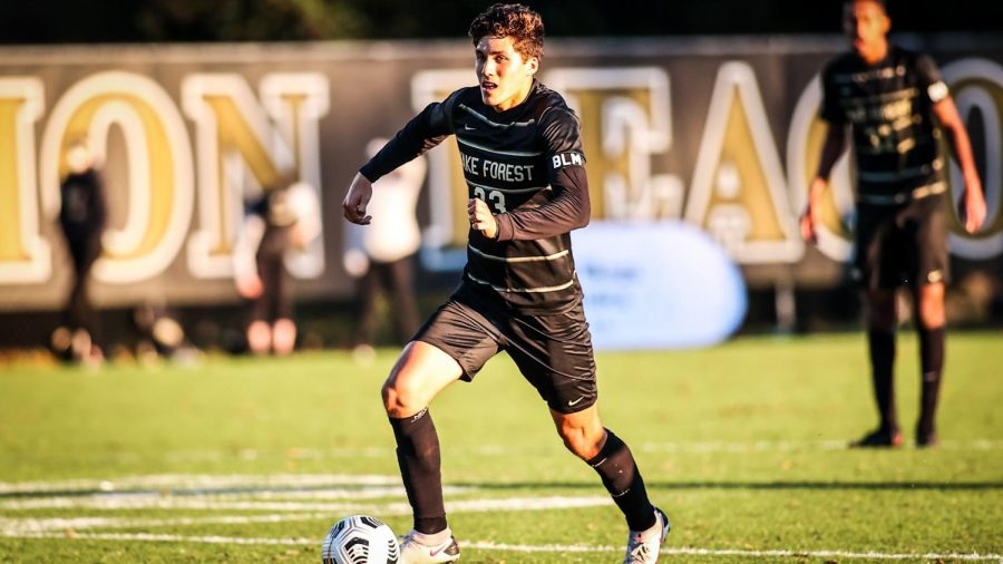 Centerback+and+sophomore+Nico+Benalcazar+has+played+a+monumental+role+in+the+Deacon%E2%80%99s+defensive+successes+this+season+%28Photo+courtesy+of++Wake+Forest+Men%E2%80%99s+Soccer+Twitter%29