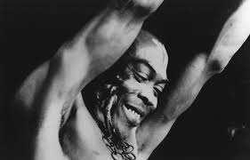 Fela Kuti was a Nigerian musician and political activist, known for his advocacy for marginalized peoples in Nigeria. His influence was critical while he was alive, and still today 23 years after his death (Photo courtesy of spotify.com)