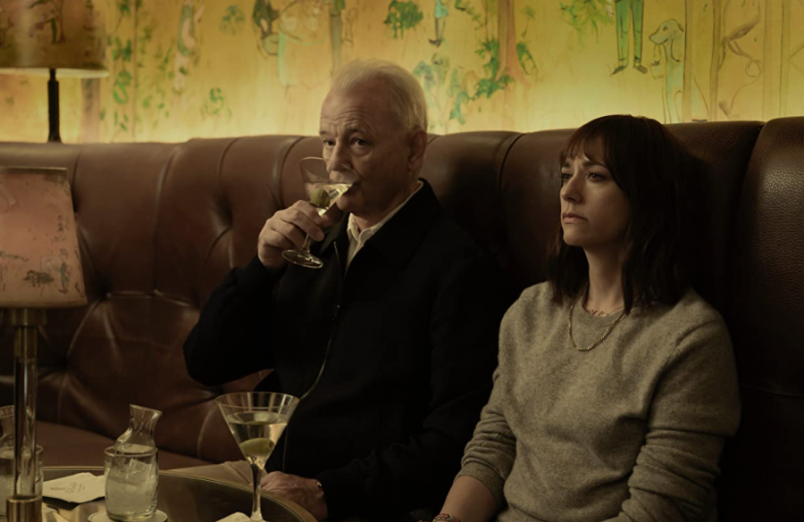 On the Rocks stars comedy veterans Bill Murray and Rashida Jones as father and daughter respectively.  Murray brings heart to his late-career performance, adding warmth to the feature (Photo courtesy of imdb.com)