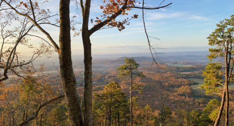 Pilot Mountain State Park is about a 20 minute drive from campus and showcases views of both mountains and the Winston-Salem skyline. The park has hiking trails and offers climbing opportunities as well (Maggie Burns/Old Gold & Black)