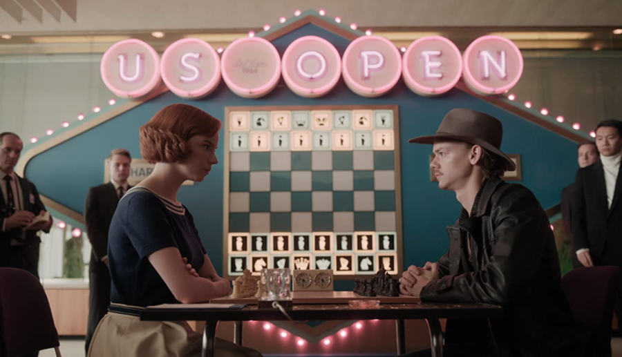 The Queen's Gambit stars the charming Anya Taylor-Joy and is matched by the charismatic Thomas Brodie-Sangster, as they are tested through a battle of their wits on the chess board (Photo courtesy of imdb.com)