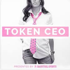 The Token CEO podcast is hosted by Barstool Sports CEO Erika Nardini (Photo courtesy of spotify.com)