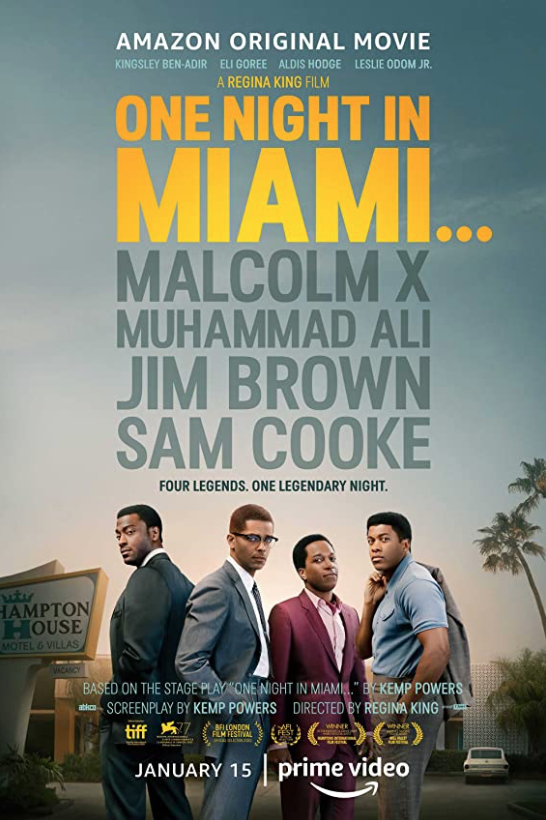 One Night in Miami is now streaming on Prime Video and is directed by award winning Regina King.