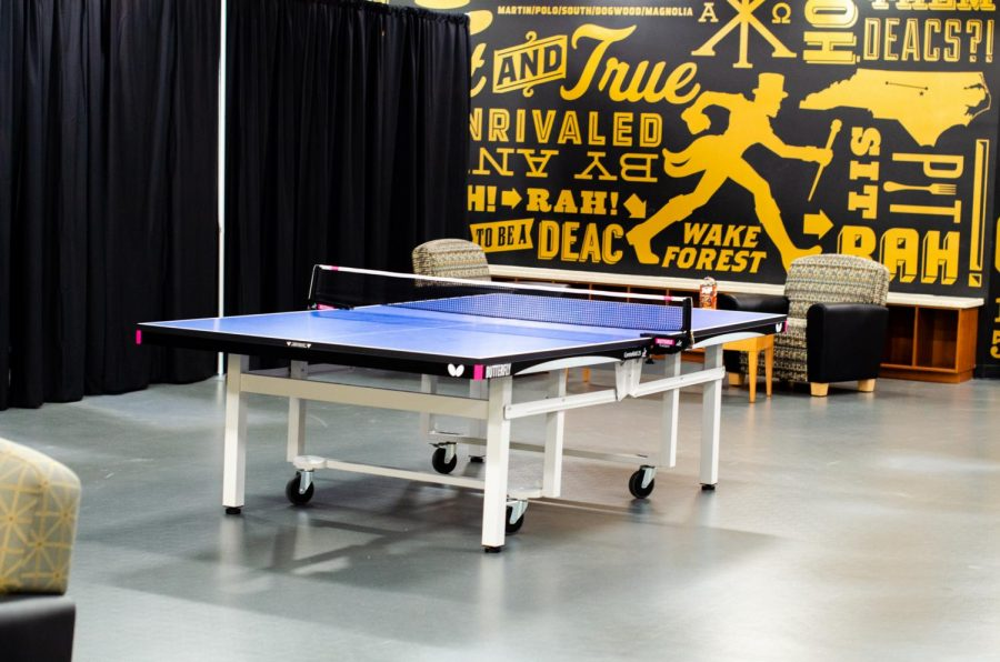 Students can play table tennis, air hockey and other games in the Recreation Room.