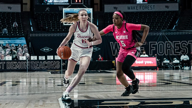Senior guard Ivana Raca scored 18 points in 34 minutes of action.