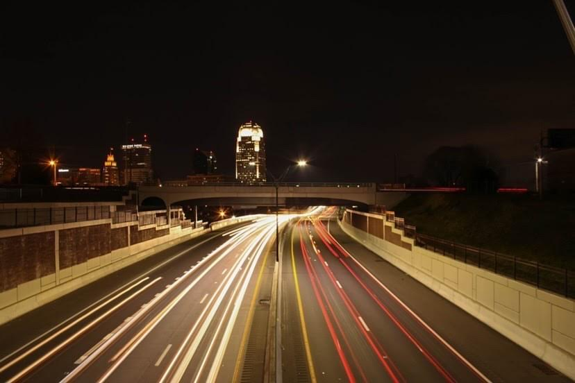 Photographer+Andy+Woehr%27s++long-exposure+shot+of+a+Winston-Salem+highway+displays+the+city%27s+heavy+nighttime+traffic+flow.