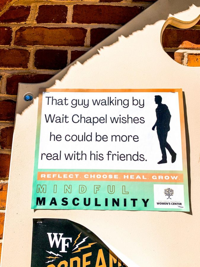 Signs+around+campus+on+norms+surrounding+masculinity+are+a+core+part+of+the+campaign.