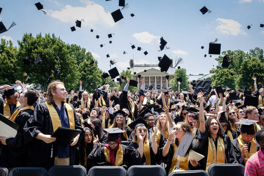Traditionally%2C+degrees+are+conferred+all+at+once+to+graduates+on+Hearn+Plaza.+This+year%2C+there+will+be+multiple+graduation+ceremonies+for+different+small+groups+at+outdoor+sports+stadiums+such+as+Truist+Field.