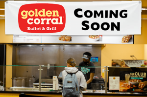 """Golden Corral accurately reflects the beliefs and values of Wake Forest,"" reads a press release. ""Golden Corral's slogan, 'The only one for everyone,' mirrors the pro humanitate ideal that our school embodies."