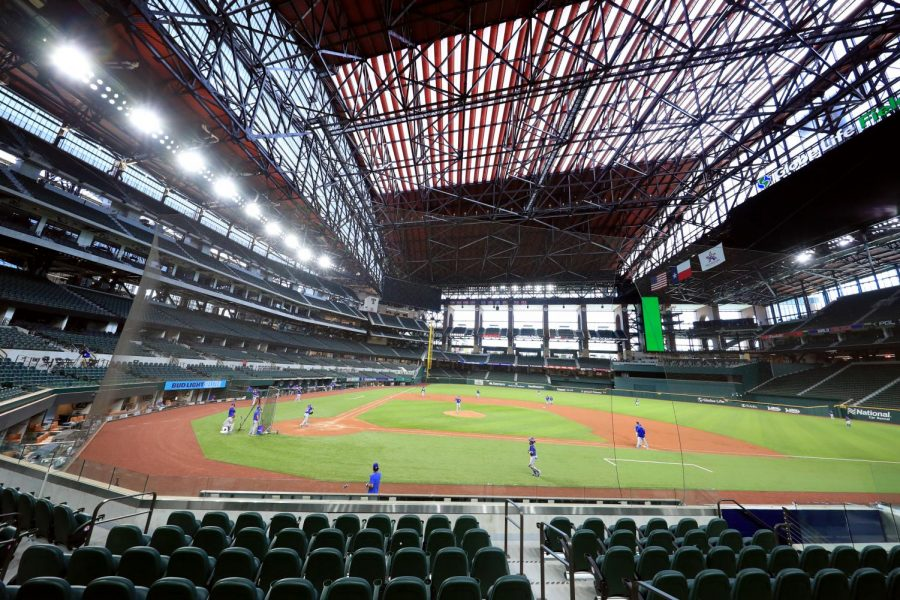 Globe Life Park in Arlington, Texas is prepared to accept their full capacity, now that the state has dropped COVID-19 mandates.