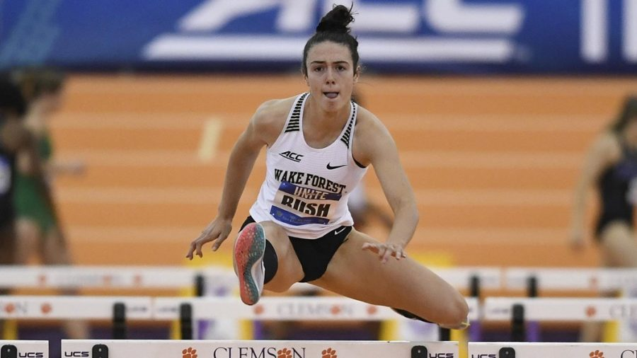 Bush+competing+on+Day+2+of+the+ACC+Indoor+Championships.