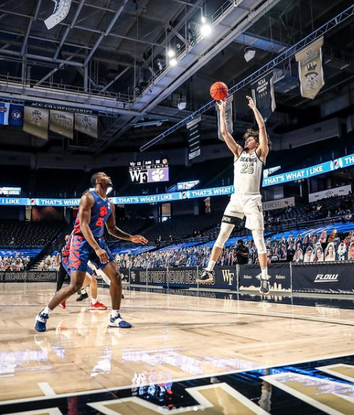 Sophomore forward Ismael Massoud has played his final game as a Deac.