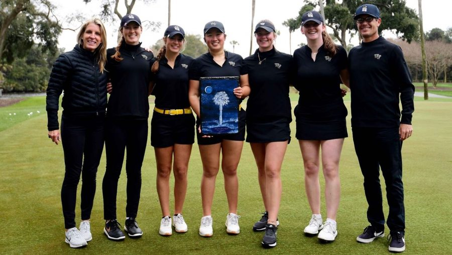 The Wake Forest Women's Golf Team, headlined by Rachel Kuehn, takes home the Palmetto Intercollegiate team title on Feb. 22 by a margin of 28 strokes.