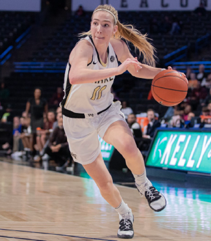 Raca posted 1482 points and 715 rebounds in her career at Wake Forest.