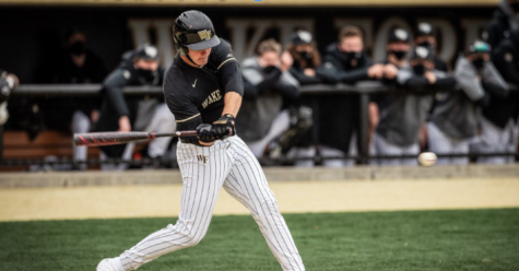 On April 20, the third baseman, Wilken, hit his 11th home run of the season, putting him seventh among freshmen in home runs in program history.