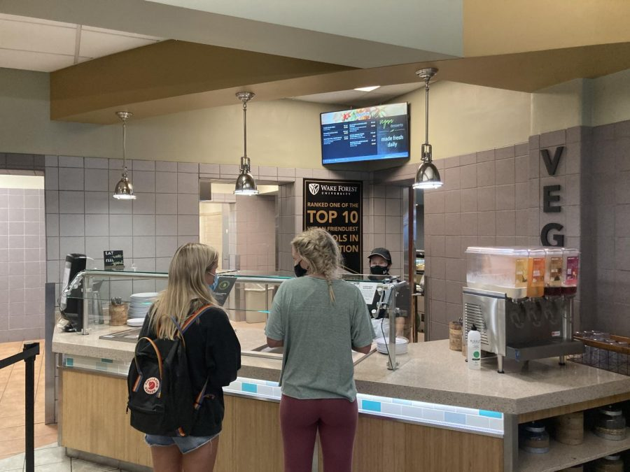 Plant-based dining has increased in popularity at Wake Forest, especially after the introduction of the Vegan Station at the Pit four years ago.