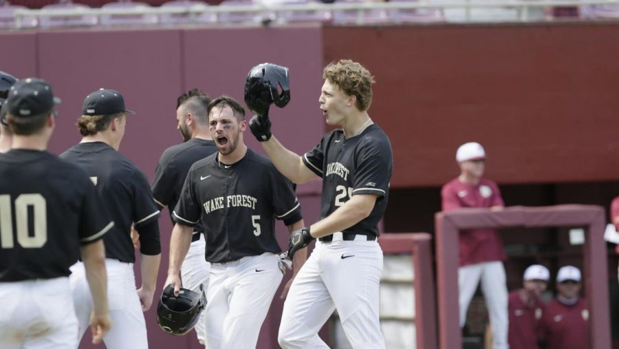 Freshmen Brock Wilken crushed two home runs in game two to help the Demon Deacons clinch the series against No.17 Florida State