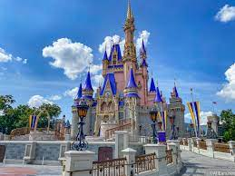 Cinderella's castle offers a welcoming gateway into the magic kingdom of Disney World, a park that invites all guests to live their childhood fantasies.