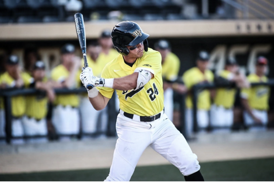 +Chris+Lanzilli+hit+two+big+home+runs+to+power+the+Demon+Deacons+to+a+game+two+win+against+ACC+opponent+NC+State.+The+contest+marked+the+first+annual+Demon+Deacon+Fight+Against+Pediatric+Cancer+game.+