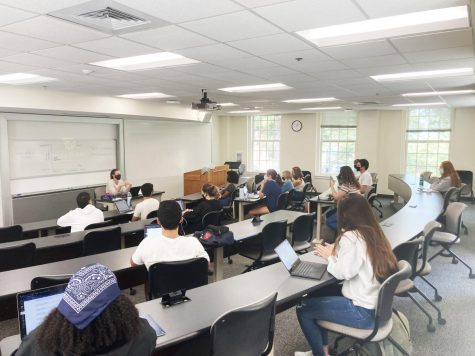 Students in Dr. Hana Browns class on race and racism (AAS 390-G) can now get credit toward an African American Studies major or minor. The program also has a new director, Dr. Corey Walker.