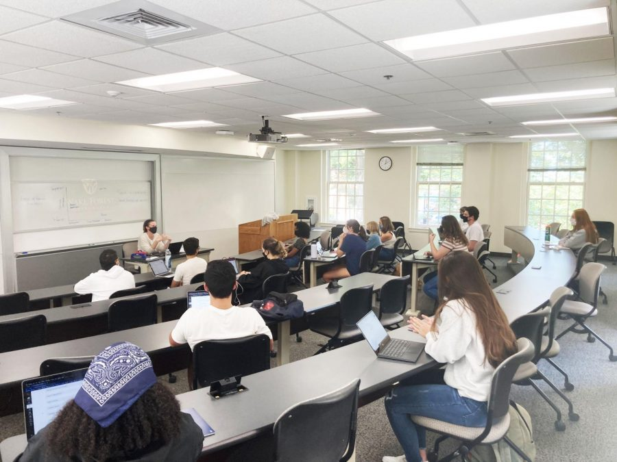 Students+in+Dr.+Hana+Browns+class+on+race+and+racism+%28AAS+390-G%29+can+now+get+credit+toward+an+African+American+Studies+major+or+minor.+The+program+also+has+a+new+director%2C+Dr.+Corey+Walker.